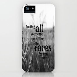 Casting Care 1 Peter 5 iPhone Case