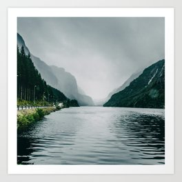 On the Road I Fjord in Norway Nature Photography Art Print