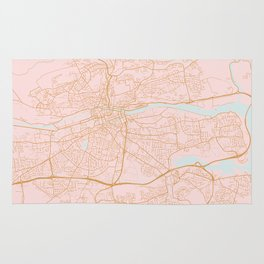 Pink Cork map, Irealnd Rug