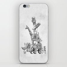The Clockwork Menagerie (Silver) iPhone & iPod Skin