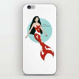 Koi mermaid illustration iPhone Skin