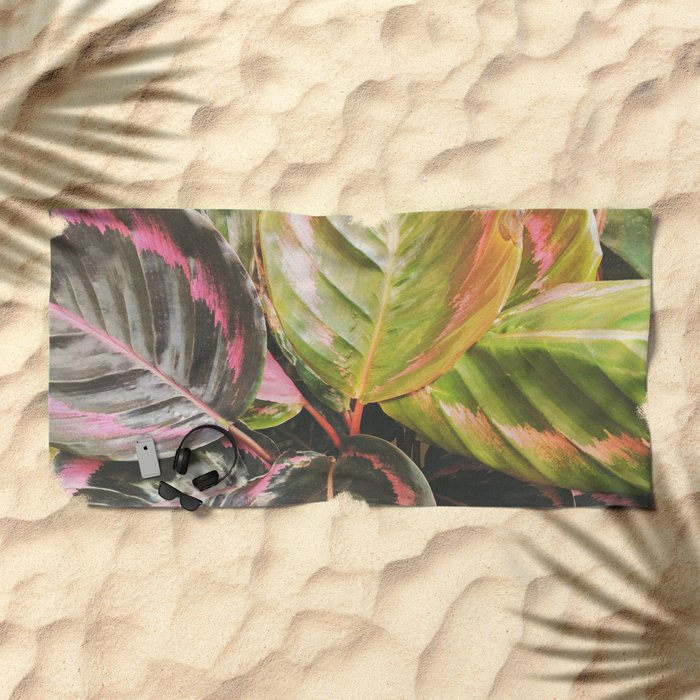 Leafy Beach Towel
