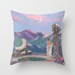 PINK COTTON SUNSET Throw Pillow