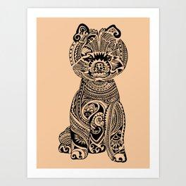 Polynesian Pomeranian Art Print