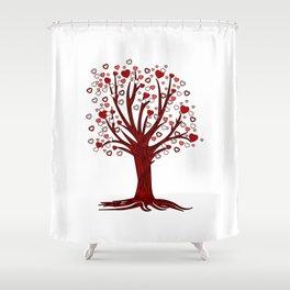 Heart Tree (2) Shower Curtain