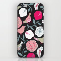 Birds and flowers iPhone & iPod Skin