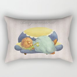 Lazy-o-saurus Rectangular Pillow