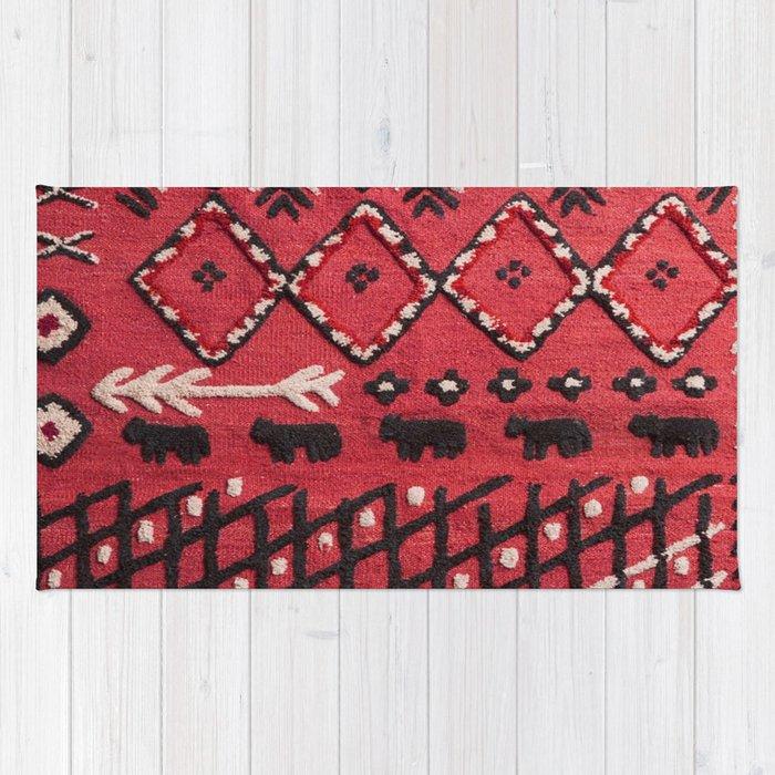 V22 Sheep herd Design Traditional Moroccan Carpet Texture. Rug