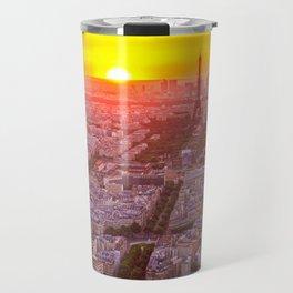 Sunset in Paris City Travel Mug