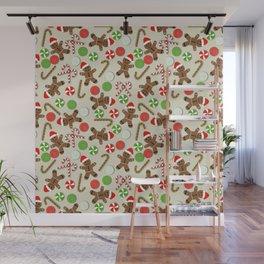 Gingerbread Men & Candy Wall Mural