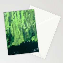Snow Dreams At Night, Solar Flares Series Stationery Cards