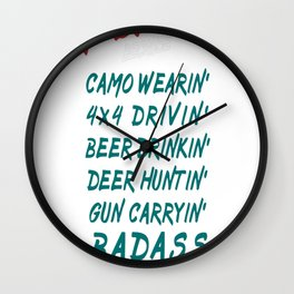 People Call Me A Redneck Wall Clock