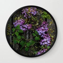 Rustic Lilac Wall Clock