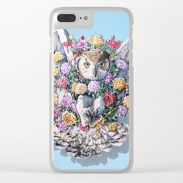 Birds in Bloom Clear iPhone Case