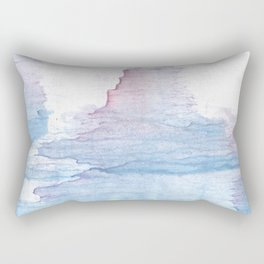 Lavender colorful wash drawing Rectangular Pillow