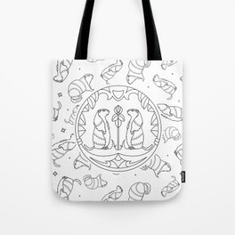 Background with animals. Groundhog animal Tote Bag