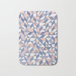 Shifting geometric pattern Bath Mat