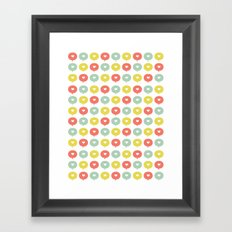 Balloon Hearts Framed Art Print
