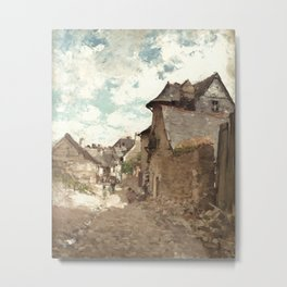 Nicolae Grigorescu - Street in Vitre Metal Print