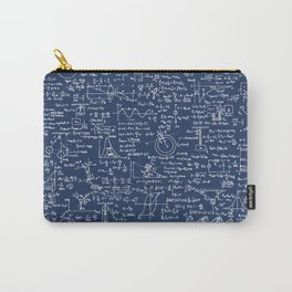 Physics Equations // Navy Carry-All Pouch