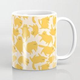 Yellow Cats Pattern Coffee Mug