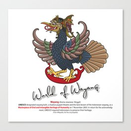 Eagle puppet characters in the story of Ramayana Canvas Print