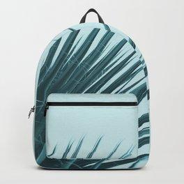 Blue Palm Leaf Backpack