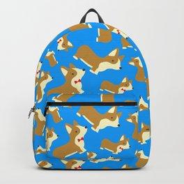 Corgi Love - Blue Backpack