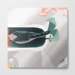Mermaid Me-Time Metal Print