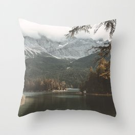 Eibsee - Landscape Photography Throw Pillow