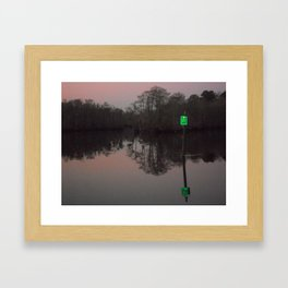 greenlight, that's my left eye. Framed Art Print