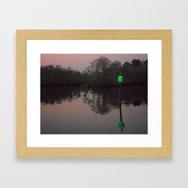 greenlight, that's my left eye. Framed Art Print