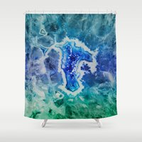 minerals Shower Curtains featuring MINERAL MAZE by Catspaws