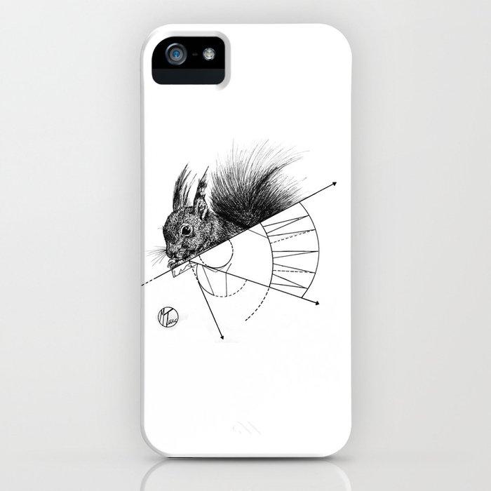 squirrel lines iPhone Case