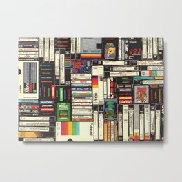 Cassettes, VHS & Games Metal Print