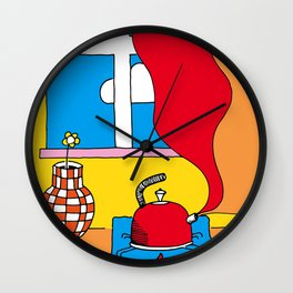 Hot Tea Day Wall Clock