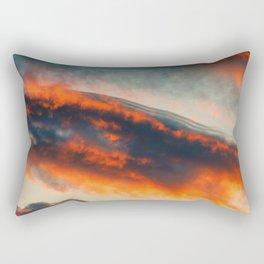 Sunset Over the Mountains (Color) Rectangular Pillow