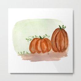 Fall Pumpkins Metal Print