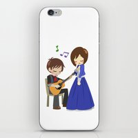 bioshock infinite iPhone & iPod Skins featuring Bioshock Infinite - Booker and Elizabeth by Choco-Minto