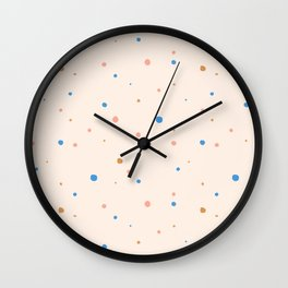 Pastel dots Wall Clock