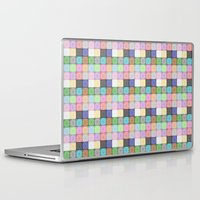 stained glass Laptop & iPad Skins featuring Stained Glass by Ana Guillén Fernández