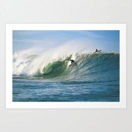 Surfing Ireland Art Print