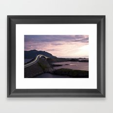 The Atlantic Road Framed Art Print