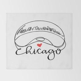 """Chicago Cloud Gate """"Bean"""" Throw Blanket"""
