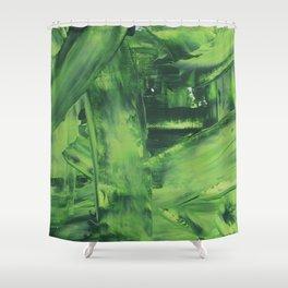 Green Mess Shower Curtain