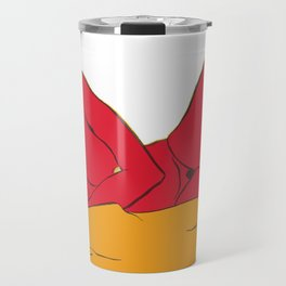 The reclining red female Travel Mug