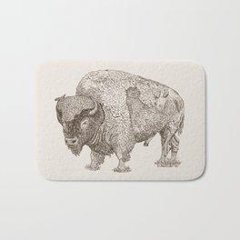 Grandpa Bison  Bath Mat