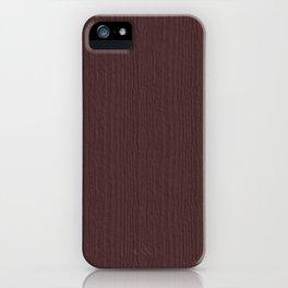 Deep Mahogany Wood Grain Color Accent iPhone Case