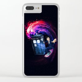 Doctor Who Space Surfing Clear iPhone Case