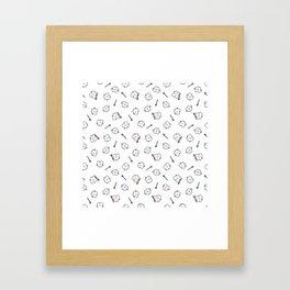 Cute teeth Framed Art Print